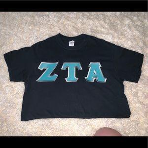 ZTA letter shirt